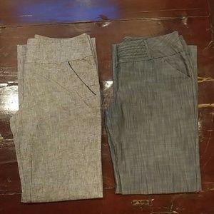 Lot of 2 Pair Juniors Dress Pants